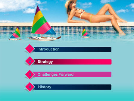 Sunbathing PowerPoint Template, Slide 3, 00126, Health and Recreation — PoweredTemplate.com