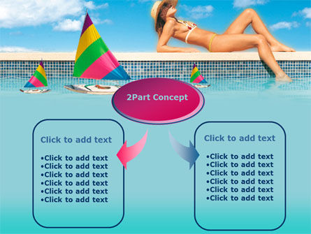 Sunbathing PowerPoint Template, Slide 4, 00126, Health and Recreation — PoweredTemplate.com