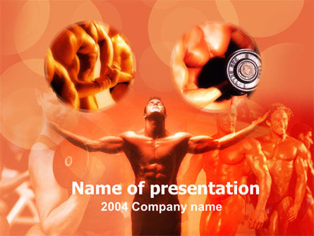 Sports: Bodybuilding Competition PowerPoint Template #00127