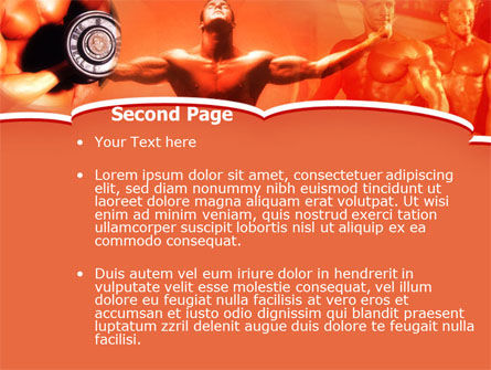 Bodybuilding Competition PowerPoint Template, Slide 2, 00127, Sports — PoweredTemplate.com