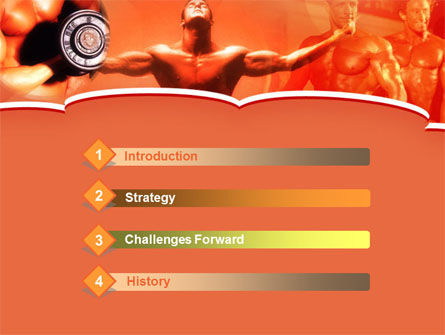Bodybuilding Competition PowerPoint Template, Slide 3, 00127, Sports — PoweredTemplate.com