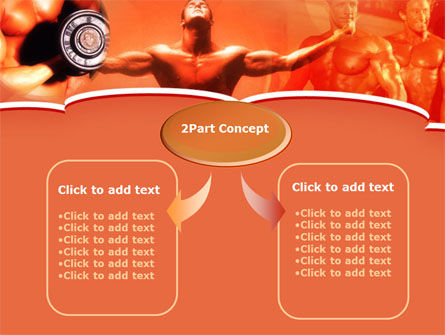 Bodybuilding Competition PowerPoint Template, Slide 4, 00127, Sports — PoweredTemplate.com