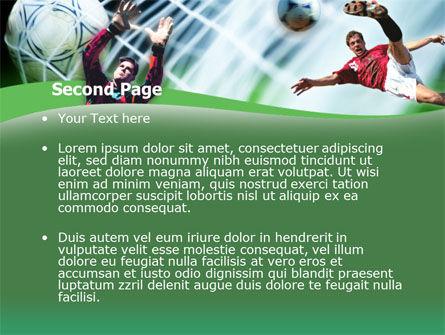 Goal Score PowerPoint Template, Slide 2, 00128, Sports — PoweredTemplate.com