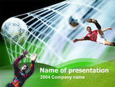 Sports: Goal Score PowerPoint Template #00128