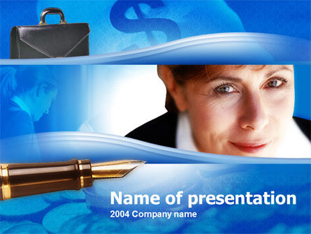 Business Lady PowerPoint Template, 00129, Business — PoweredTemplate.com