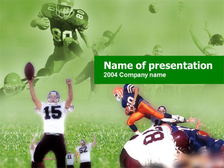 Sports: American Association Football PowerPoint Template #00130