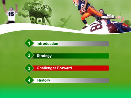 American Association Football PowerPoint Template, Slide 3, 00130, Sports — PoweredTemplate.com