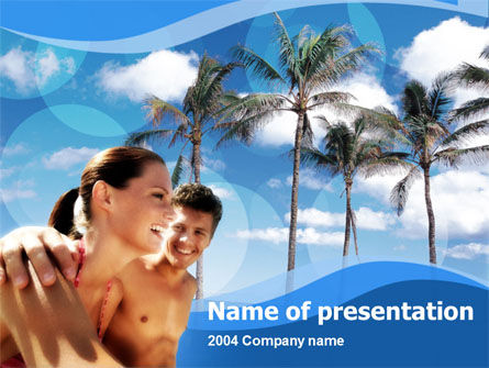 Exotic Vacation PowerPoint Template, 00131, Health and Recreation — PoweredTemplate.com