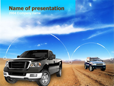 Pickup Truck Free PowerPoint Template, 00132, Cars and Transportation — PoweredTemplate.com