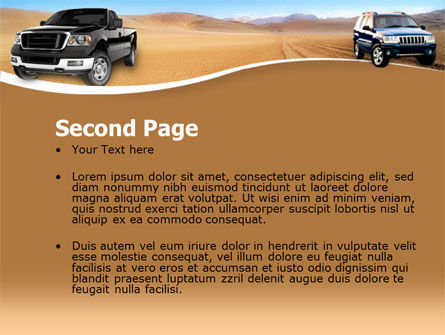 Pickup Truck Free PowerPoint Template, Slide 2, 00132, Cars and Transportation — PoweredTemplate.com