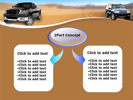 Pickup Truck Free PowerPoint Template, Slide 4, 00132, Cars and Transportation — PoweredTemplate.com