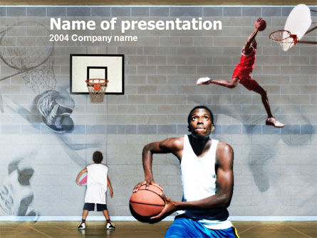 Sports: School Basketball PowerPoint Template #00133