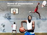 Sports: School Basketball PowerPoint Template #00133