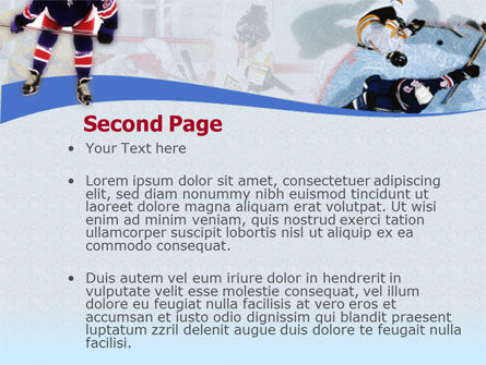 Ice Hockey Players PowerPoint Template, Slide 2, 00135, Sports — PoweredTemplate.com