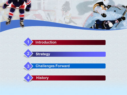 Ice Hockey Players PowerPoint Template, Slide 3, 00135, Sports — PoweredTemplate.com