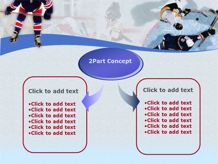 Ice Hockey Players PowerPoint Template, Slide 4, 00135, Sports — PoweredTemplate.com