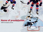 Sports: Ice Hockey Players PowerPoint Template #00135