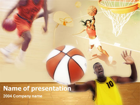 Free Basketball Players PowerPoint Template