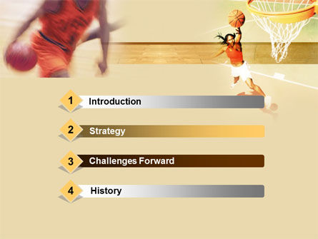 Basketball Players Free Powerpoint Template Backgrounds