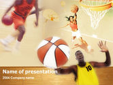 Free PowerPoint Backgrounds: Basketbal Spelers Gratis Powerpoint Template #00136