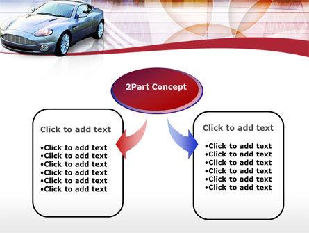 Super Car PowerPoint Template, Slide 4, 00137, Cars and Transportation — PoweredTemplate.com