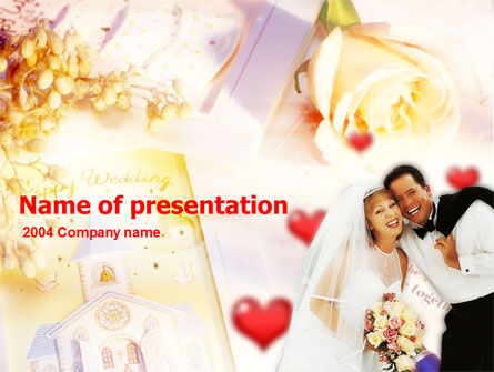 Holiday/Special Occasion: Modello PowerPoint Gratis - Matrimonio #00138