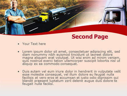 Truck Driver PowerPoint Template, Slide 2, 00139, Cars and Transportation — PoweredTemplate.com