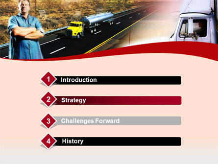 Truck Driver PowerPoint Template, Slide 3, 00139, Cars and Transportation — PoweredTemplate.com