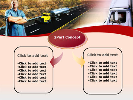 Truck Driver PowerPoint Template, Slide 4, 00139, Cars and Transportation — PoweredTemplate.com
