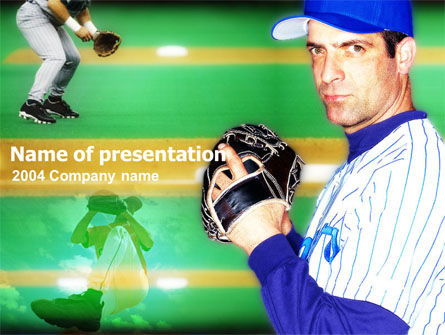 Baseball Thrower PowerPoint Template, 00140, Sports — PoweredTemplate.com