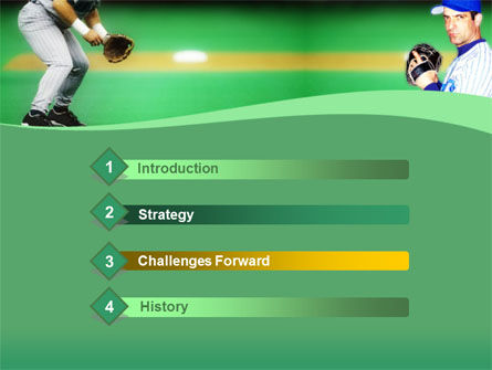 Baseball Thrower PowerPoint Template, Slide 3, 00140, Sports — PoweredTemplate.com