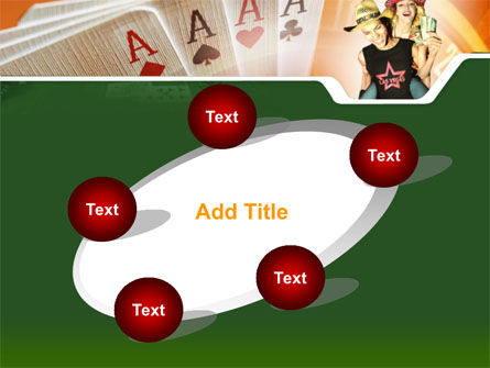 Card Games In Casino PowerPoint Template Slide 14