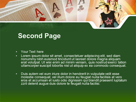 Card Games In Casino PowerPoint Template Slide 2