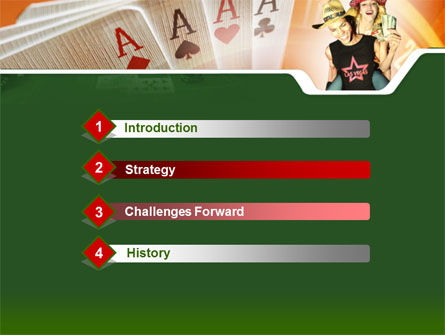 Card Games In Casino PowerPoint Template Slide 3