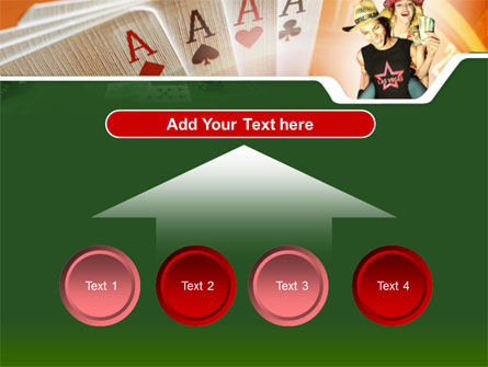 Card Games In Casino PowerPoint Template Slide 8