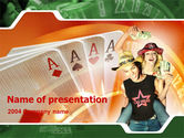 Art & Entertainment: Card Games In Casino PowerPoint Template #00141