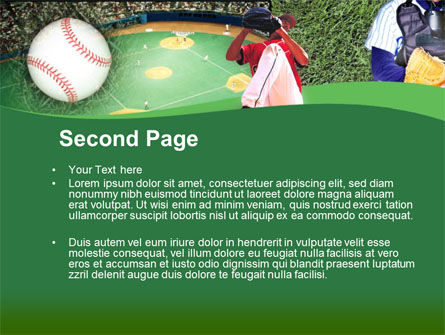Baseball Catcher PowerPoint Template, Slide 2, 00142, Sports — PoweredTemplate.com