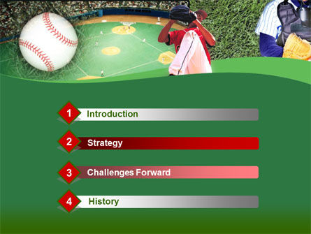 Baseball Catcher PowerPoint Template, Slide 3, 00142, Sports — PoweredTemplate.com