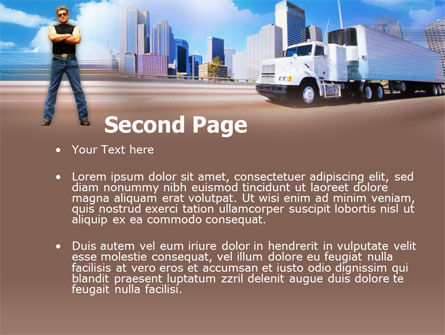 Truck Driving PowerPoint Template Slide 2
