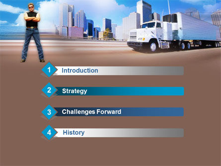 Truck Driving PowerPoint Template Slide 3