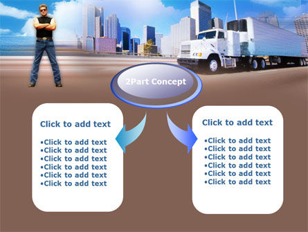 Truck Driving PowerPoint Template Slide 4