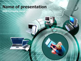 Technology and Science: Personal Types Computer PowerPoint Template #00145