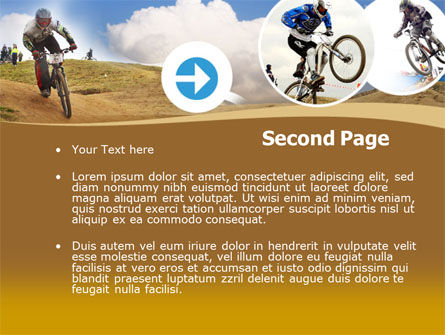 Mountain Biker Free PowerPoint Template, Slide 2, 00146, Sports — PoweredTemplate.com