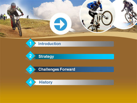 Mountain Biker Free PowerPoint Template, Slide 3, 00146, Sports — PoweredTemplate.com