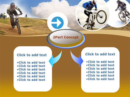 Mountain Biker Free PowerPoint Template, Slide 4, 00146, Sports — PoweredTemplate.com