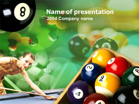 Billiard Player PowerPoint Template, 00147, Art & Entertainment — PoweredTemplate.com