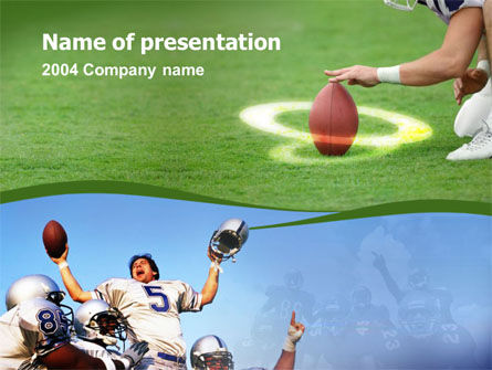 Sports: Touchdown PowerPoint Template #00148