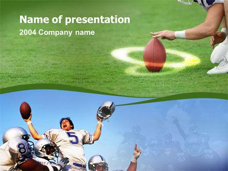 Touchdown PowerPoint Template, 00148, Sports — PoweredTemplate.com