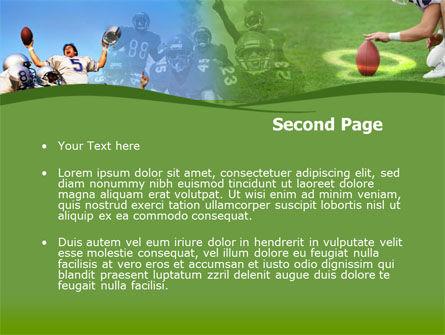 Touchdown PowerPoint Template, Slide 2, 00148, Sports — PoweredTemplate.com