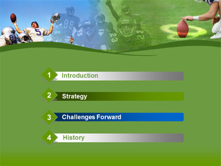 Touchdown PowerPoint Template, Slide 3, 00148, Sports — PoweredTemplate.com